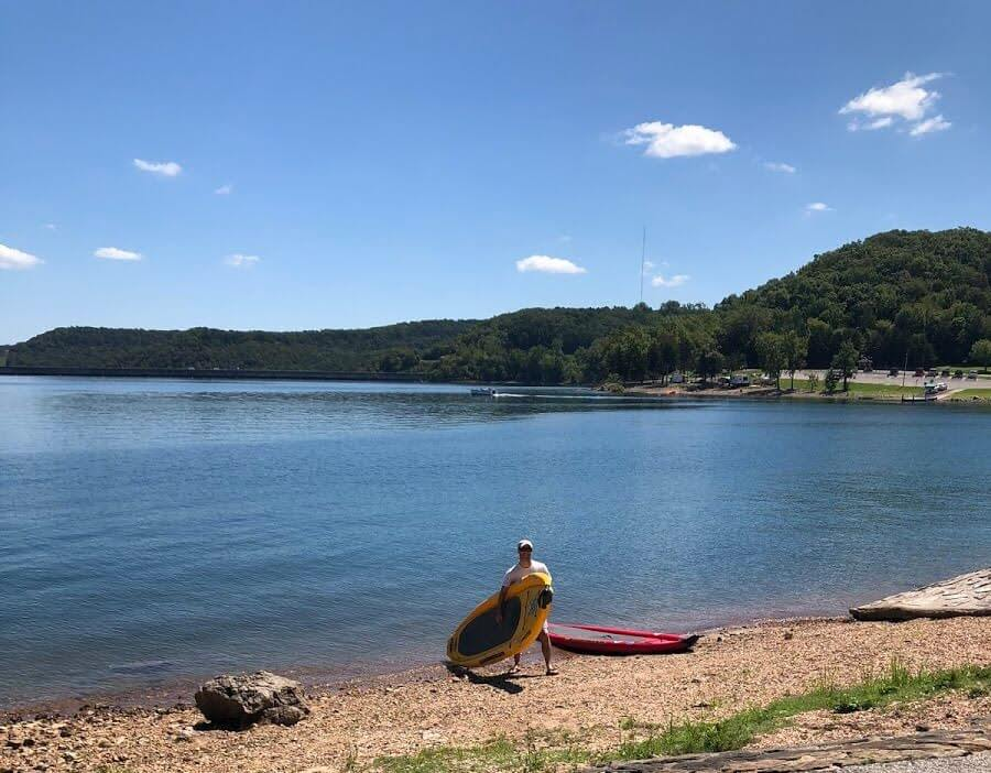 beaver-lake-SUP-camping-in-the-ozarks