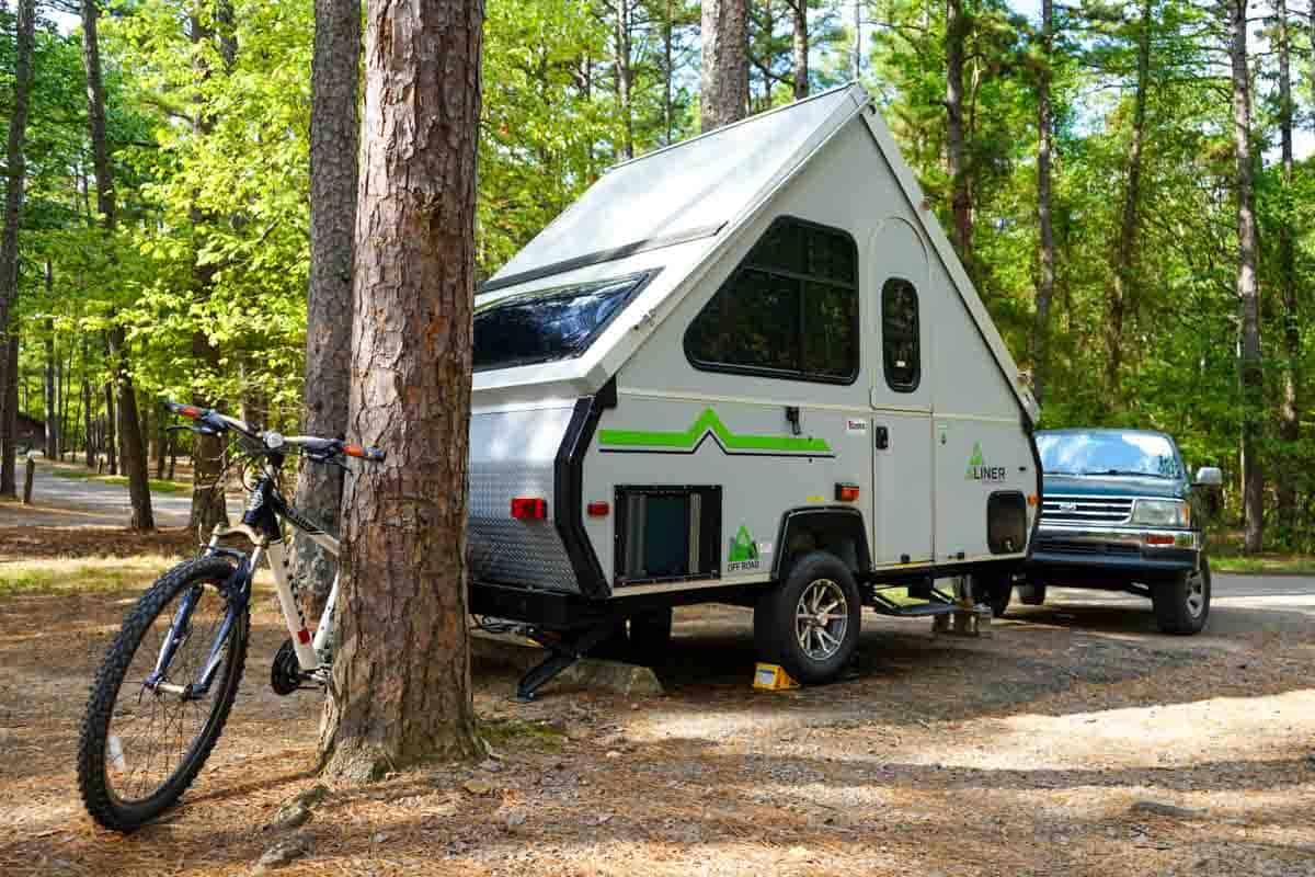 Aliner Ranger 12 camper at campground