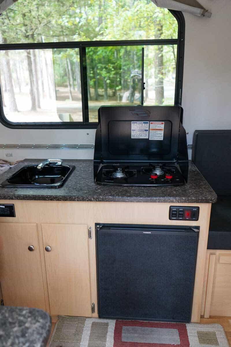 Aliner Ranger 12 kitchen area
